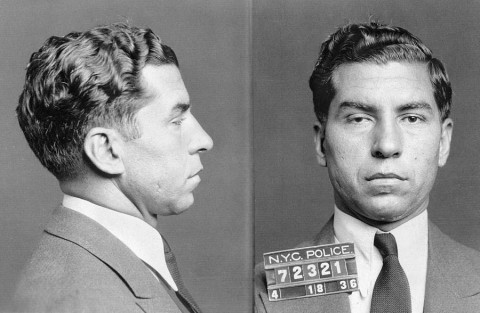 1931 New York Police Department mugshot of Lucky Luciano