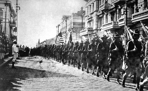 American troops in Vladivostok, 1918