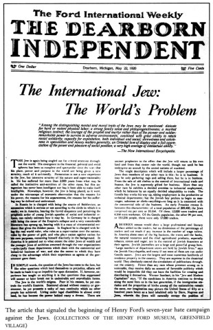 Henry Ford-The International Jew, The World's Problem - 1920 articles in the Dearborn Independent