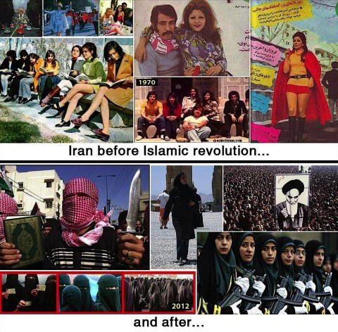 Iran before and after the Islamic revolution 1979