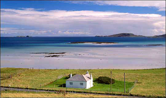 Memorable view... Isle of Barra which Cameron said was his former home
