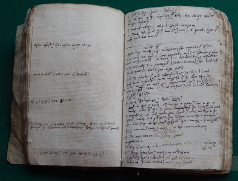 Two pages from Samuel Ward's translation for part of the King James Bible. Jeffrey Alan Miller, professor of English at Montclair State University in New Jersey who came upon the manuscript at Cambridge says it is the earliest known draft for the King James translation, which appeared in 1611. Photo: Maria Anna Rogers
