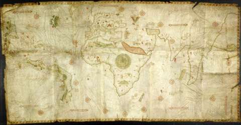 The Caverio Map (also known as Caveri Map or Canerio Map) is a map drawn by Nicolay de Caveri, circa 1506. It is kept at the Bibliothèque Nationale de France in Paris.