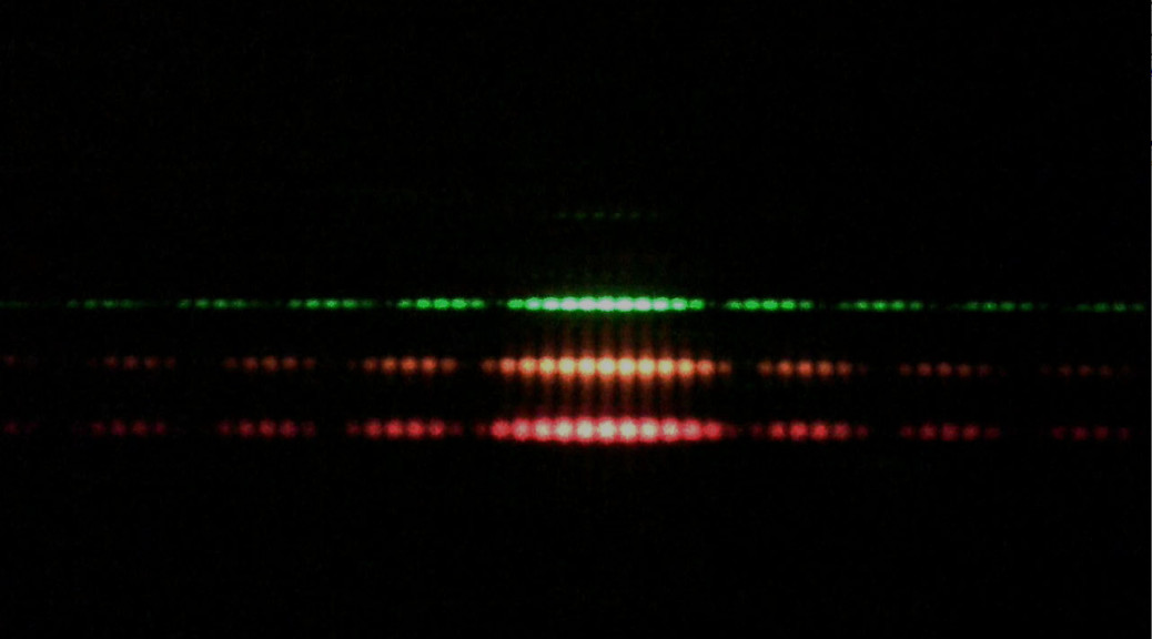 Double Slit experiment: Laser Diffraction and Interference. Photo: tsgphysics.mit.edu