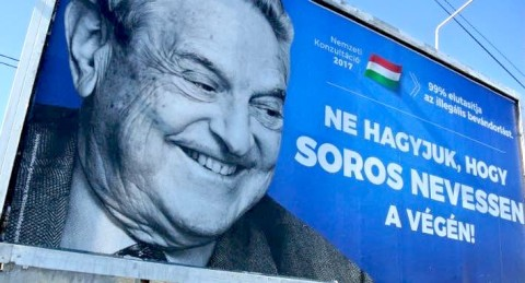 "Hungarian government poster portraying financier George Soros and saying ""Don't let George Soros have the last laugh"". Budapest, Hungary July 6, 2017. Israel's foreign ministry: ""... George Soros, who continuously undermines Israel's democratically elected governments,"" said foreign ministry spokesman Emmanuel Nahshon, adding that Soros funded organizations ""that defame the Jewish state and seek to deny it the right to defend itself"". Source: REUTERS"