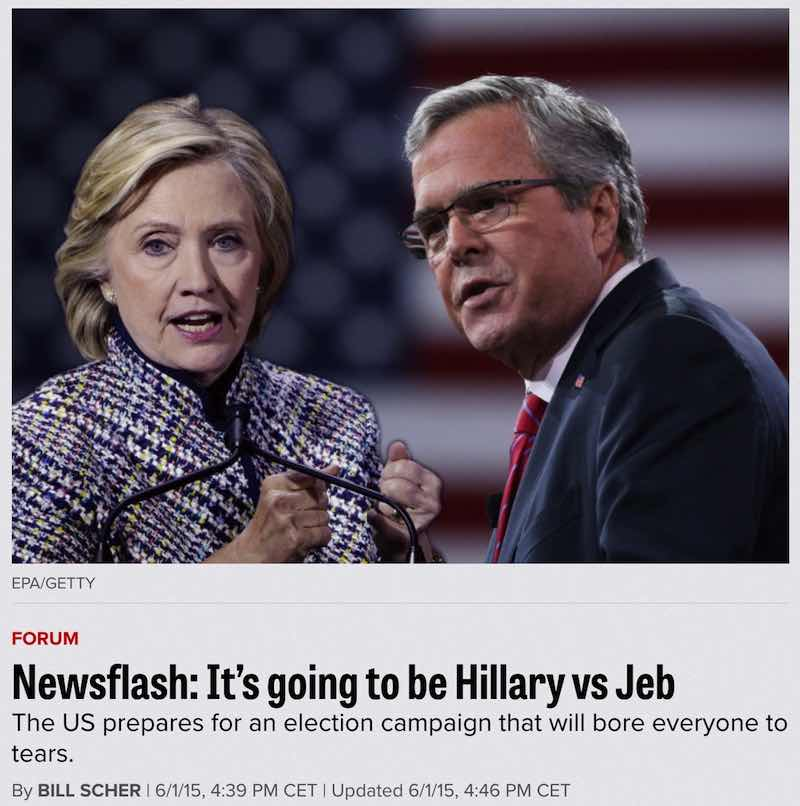 hillary-vs-jeb-fake-duel-race