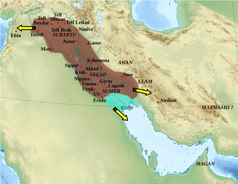 Akkadian Empire, dominant political force in Mesopotamia at the end of the third millennium BC