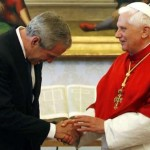 Antichrist-bush-bows-to-pope