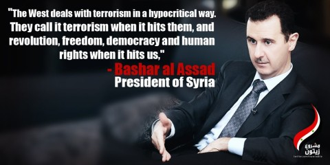 Assad-US-terrorism in Syria