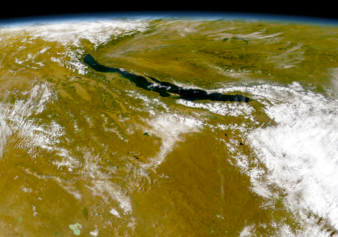 Baikal as seen from the OrbView-2 satellite