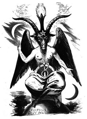 "Satanism symbol, god Baphomet, from Eliphas Levi's ""Dogme et Rituel de la Haute Magie"", 1854 