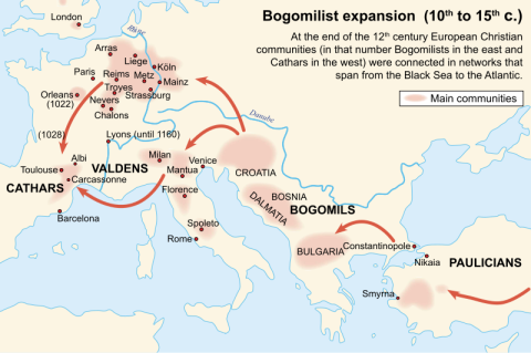 Bogomils in Europe 10th century