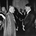 Cesare Orsenigo, Pope Pius XII's nuncio to Nazi Germany, meets with Adolf Hitler, 1935-1-1