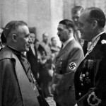 Cesare Orsenigo, Pope Pius XII's nuncio to Nazi Germany, meets with Adolf Hitler and Joachim von Ribbentrop in early 1939