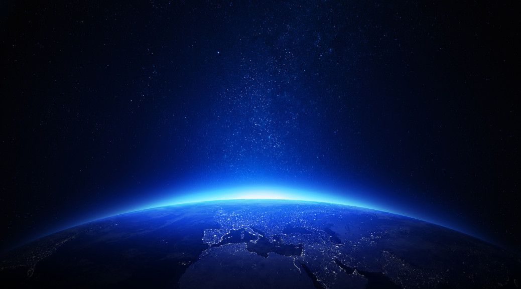 Earth at night 128679269