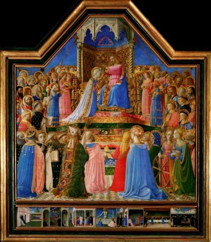 Fra Angelico, Coronation of the Virgin, 1434-1435, Louvre