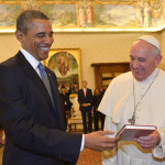 Best friends: Francis and President Barack Obama smile as they meet at the Vatican Thursday, March 27, 2014. A visibly energized President...