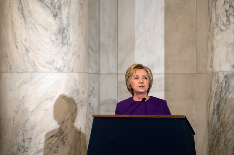 "Hillary Clinton in Washington on 2016, Dec. 8. On Thursday, she said that the hacking attacks carried out by Russia against her campaign and the Democratic National Committee were ""an attack against our country."" Photo: Credit Stephen Crowley/The New York Times"