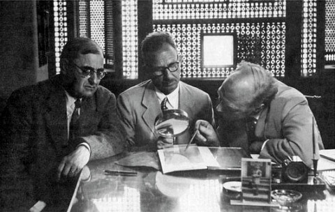 International Committee on Gnosticism, 1956: Henri-Charles Puech, Pahor Labib, and Gilles Quispel