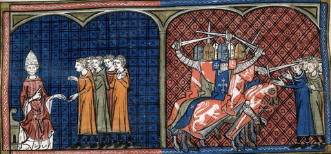 Le massacre des Albigeois, Chronique de Saint-Denis, British Library