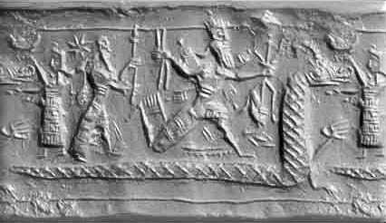 Marduk-Tiamat-battle: Creation-Story—Nabu & Marduk face off against Inanna, for dominance in Sumer to be with Enlil's descendants, or with Enki's descendants