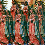 Mexico City – hundreds of statues of Nuestra Señora de Guadalupe in the shops outside the basilica