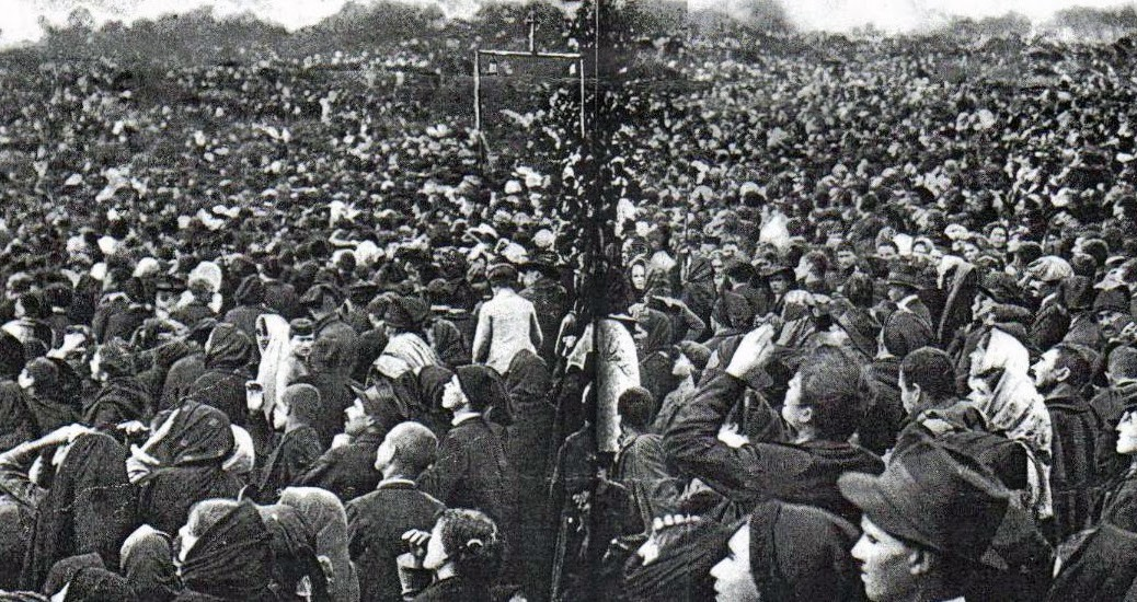 Miracle of the Sun was an event on 13 October 1917 which was attended by 30,000 to 100,000 people, who were gathered near Fatima, Portugal