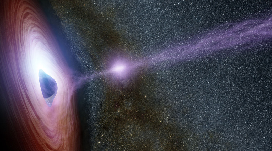 NASA image of mysterious object ejected from the supermassive black hole at the center of the Milky Way Galaxy