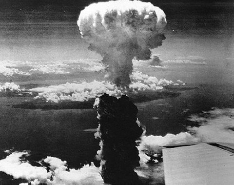 On August 9, 1945, the American B-29 bomber, Bock's Car left Tinian carrying Fat Man, a plutonium implosion-type bomb. Of the 286,00 people living in Nagasaki at the time of the blast, 74,000 were killed and another 75,000 sustained severe injuries.