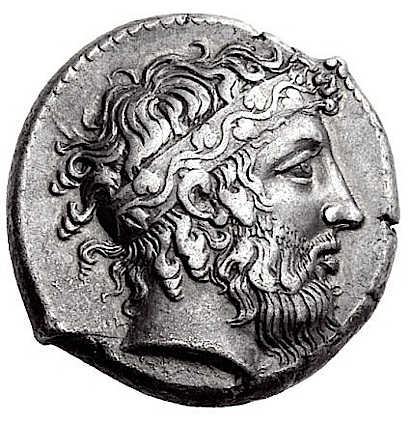 Naxos tetradrachmon shows Dionysos, ca. 410 B.C