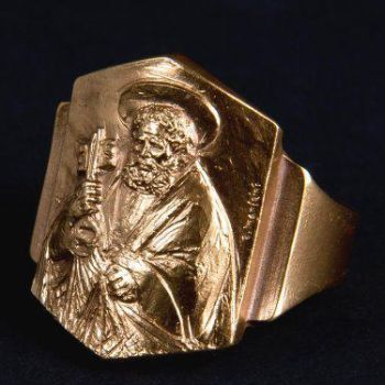 Pope Francis has chosen the inscription for his Fisherman's Ring – St Peter, the first Bishop of Rome