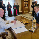 Pope Francis first face-to-face meeting with Obama, March 27, 2014