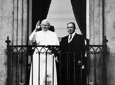 Pope John Paul II with Augusto Pinochet; Santiago de Chile, 1987