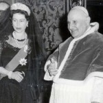 Queen with Pope John at the Vatican-1961