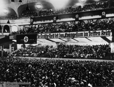 Reich Conference of German Christians at the Sportpalast in Berlin (November 13, 1933).