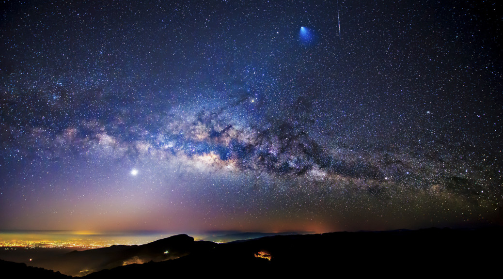Rocket, Meteor and Milky Way over Thailand