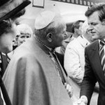 U.S. SEN. TED KENNEDY GREETS POPE JOHN PAUL II IN BOSTON IN 1979
