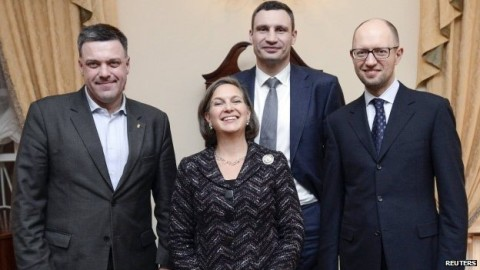 US Assistant Secretary of State Victoria Nuland together Neo Nazis