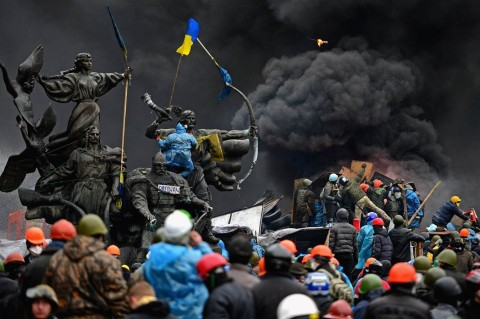 Ukraine-Masks of revolution by Paul Moreira-Maidan