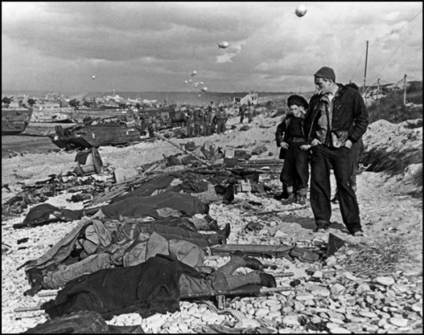 D-day, Normandy, France, 9000 soldiers and civilians dead during the Allied assault, June 6, 1944