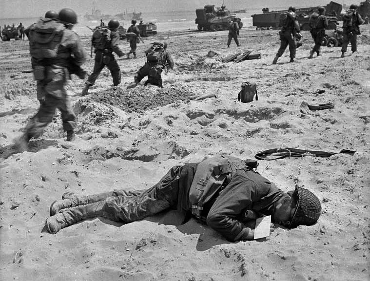 d-day, Normandy, France, dead, June 6, 1944