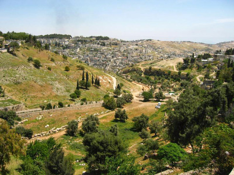 Hinnom (Hinom) Valley at south of Jerusalem Old City