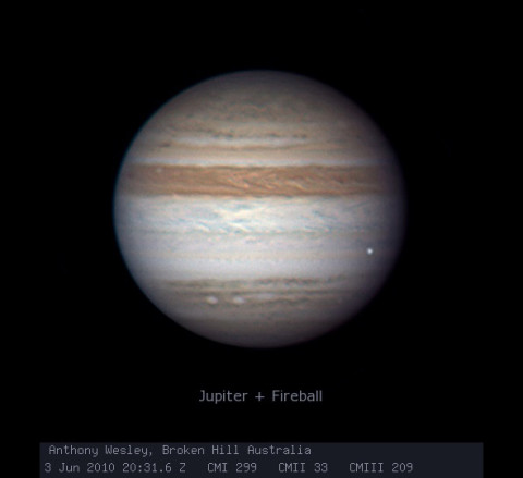 Jupiter impact 2010-06-03. Photo by Anthony Wesley