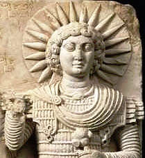 "Iarhibol, the Sun God of ancient Roman-Syria and the cities of Palmyra and Dura Europos. Iarhibol ('YAR-hi-boll' — alt. spelled ""Yarhibol"") was honored throughout the Near East, and even in the Janiculum Temple in the city of Rome itself. As an eternal Sun God, Iarhibol is a deity of Light, Truth and Honor."