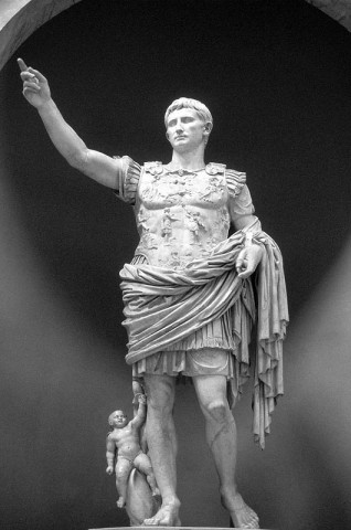 Augustus as Pontifex Maximus, marble statue, c. 20 bce, in the Vatican Museums
