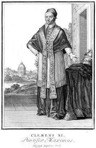 Christoph Weigel-Clemens XI. Pontifex Maximus