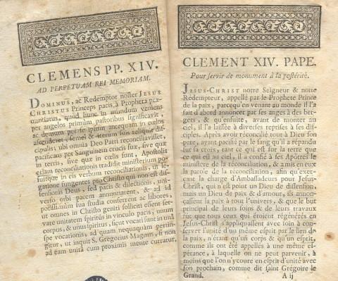 Dominus ac Redemptor Noster, 1773
