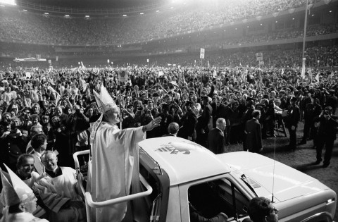 John Paul II at Shea Stadium, Queens, N.Y., October 1979